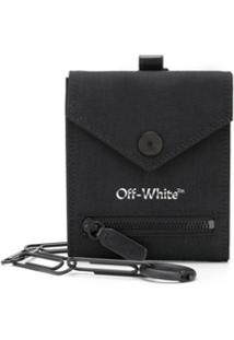 Off-White Carteira Com Logo E Corrente - Preto