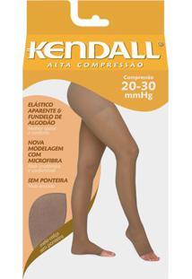 Meia Calça Alta Compressão 20-30 Mmhg Kendall Mel Ponteira Aberta G