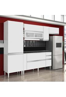 Cozinha Ebano 9 Portas 3 Gavetas Branco