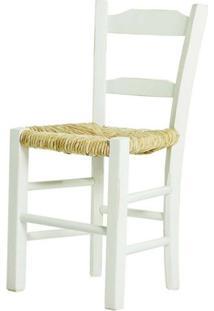 Cadeira Lagiana Pequena Eucalipto Branco Palha - 31278 - Sun House