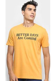 Camiseta Calvin Klein Est Better Days Masculina - Masculino-Amarelo