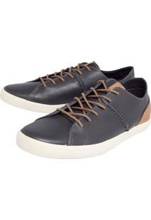 Sapatênis Coca Cola Shoes Recorte Azul/Bege