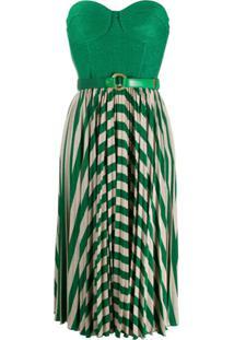Elisabetta Franchi Vestido Sem Mangas Com Pregas - Verde