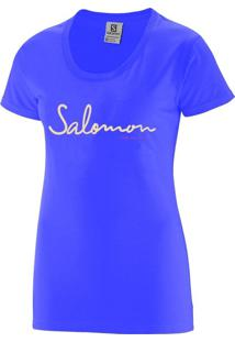 Camiseta Salomon Time To Play Tee Feminino Gg Violeta