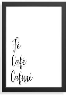 Quadro Love Decor Decorativo Fé, Café, Cafuné.