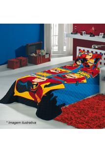 b6003b1268 Colcha Os Incríveis® Solteiro - Azul   Vermelha - 15Lepper