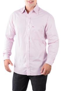 Camisa Pazan Slim Fit Premium Lisa Manga Longa Rosa