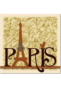 Quadro Impressão Digital Paris Marrom 45X45 Uniart..