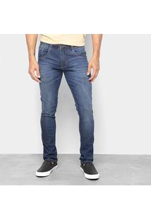 Calça Jeans Skinny Biotipo Estonada Cintura Baixa Masculina - Masculino