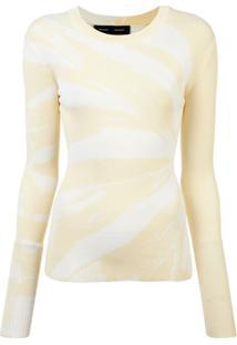 Proenza Schouler Blusa De Tricô Tie Dye - Amarelo