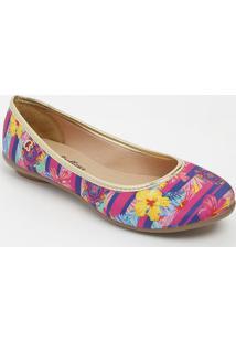 Sapatilha Floral- Pink & Azul Marinhocarmen Steffens