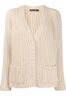 Incentive! Cashmere Cardigan Decote Em V De Cashmere - Neutro