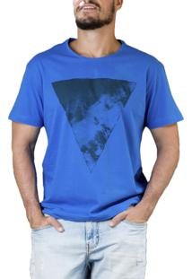 Camiseta Vbrüm T-Shirt Estampa Triângulo Azul