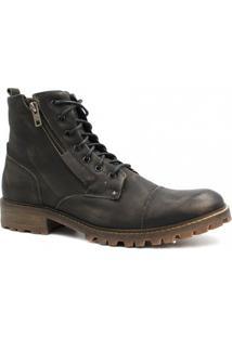 Bota Coturno Zariff Shoes Savana Masculina - Masculino-Preto