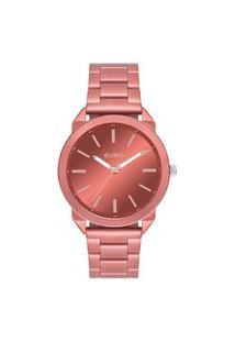 Relógio Euro Feminino Color Spray Vermelho Analógico Eu2035Ysh4R