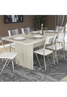 Mesa Para Cozinha 160 X 80 Cm C649 Nacre - Kappesberg