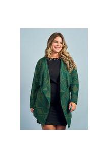 Casaco Feminino Aberto Plus Size Ref.51857