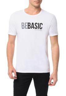 Camiseta Calvin Klein Jeans Estampa Be Basic Branco - Gg