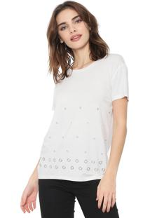 Blusa Facinelli By Mooncity Ilhoses Off-White
