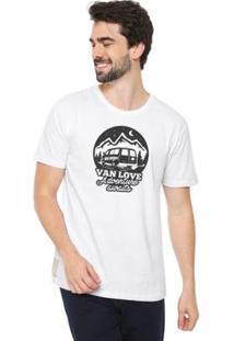 Camiseta Talismã Store Eco Canyon Van Love Masculina - Masculino-Branco