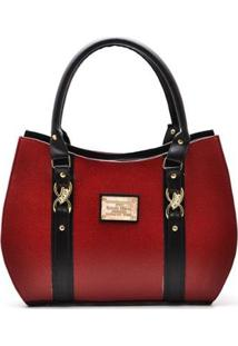 Bolsa D&R Shoes Casual Feminina - Feminino-Vermelho