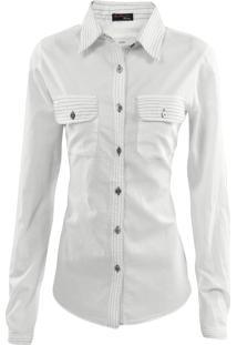 Camisa Gajang Manga Longa Branco