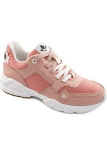 Tênis Sneaker Chunky Cravo E Canela Feminino - Feminino-Rosa+Branco