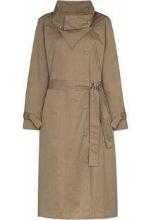 Frankie Shop Trench Coat Com Lapelas Largas - Verde