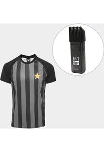 Kit Camisa Botafogo Estrela Gold Nº 7 - Edição Limitada Masculina + Maquina Retrô Gama Italy Bivolt - Masculino