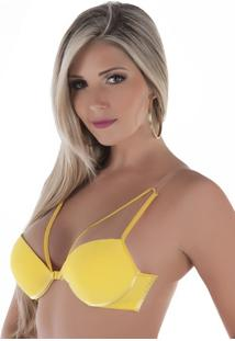 Sutiã Tule Strappy Monalisa Amarelo-Gg