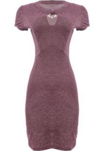 Vestido Trançado Aleatory - Feminino-Vinho
