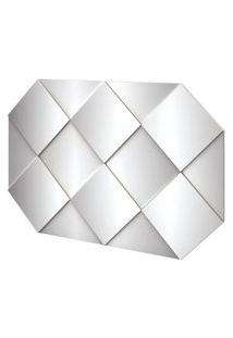 Painel Decorativo Safira Com Espelhos Cor Off White Brilho 1,28 Mt (Larg) - 56526 Sun House