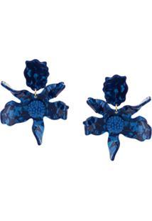 Lele Sadoughi Par De Brincos 'Crystal Lily' - Azul