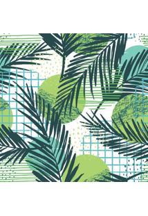 Papel De Parede Adesivo Folhas Palmeira (0,62M X 2,65M)