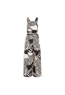 Macacão Feminino Pantalona Tucalistra - Bege