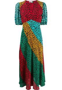 Rixo Vestido Color Block - Preto