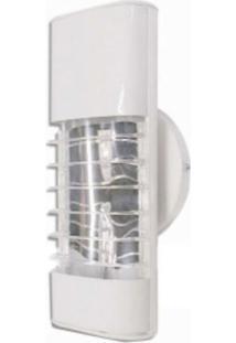 Luminária Mini Elite 27Cm Com Aletas E-27 1 Lâmpada Eletrônica Branca