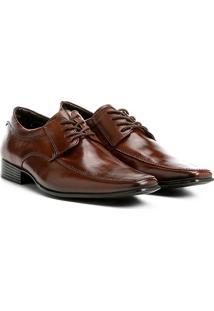 Sapato Social Couro Shoestock Tradicional Masculino - Masculino-Marrom