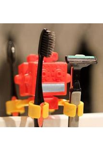 Porta Escova De Dentes Robô F9 Vermelho