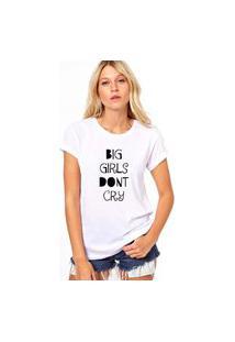 Camiseta Coolest Big Girl Don'T Cry Branco