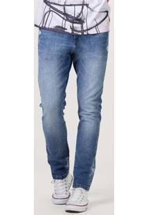 Calça Jeans Masculina Skinny Com Lavanderia Premium