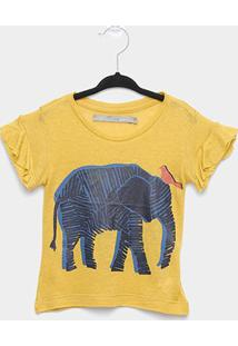 Blusa Maria Filó Elefante Feminina - Feminino-Amarelo