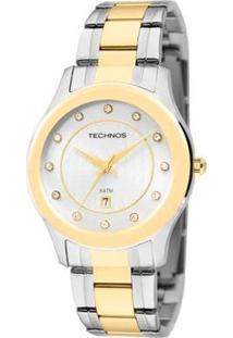 Relógio Feminino Technos Analógico - Feminino-Prata+Dourado