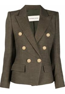 Alexandre Vauthier Double-Breasted Tailored Blazer - Verde
