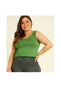 Blusa Regata Plus Size Feminina Básica
