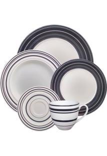 Aparelho De Jantar Casamiga Mila Black Porcelana 20 Peças - 30102