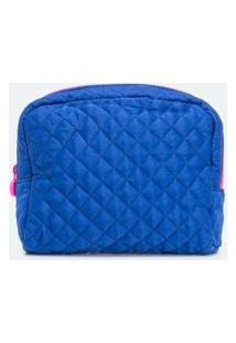 Nécessaire Modelo Tijolo Estampa Lisa | Accessories | Azul | U
