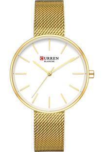 Relógio Curren Analógico C9042L Dourado