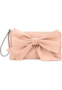 Red Valentino Clutch 'Red(V)' Com Laço - Neutro