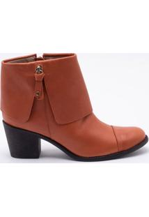 Ankle Boot Comfy Couro Ferrugem